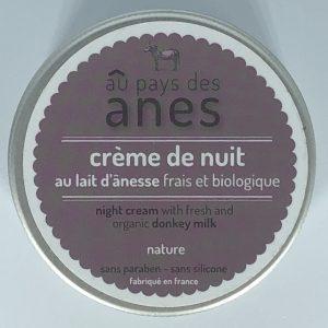 Crème de nuit au lait d'ânesse frais et biologique 100 ml