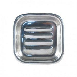 Porte-savon Pain d'Alep carré en acier inoxydable