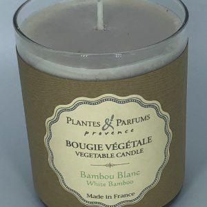 Bougie Végétale Parfumée Bambou Blanc