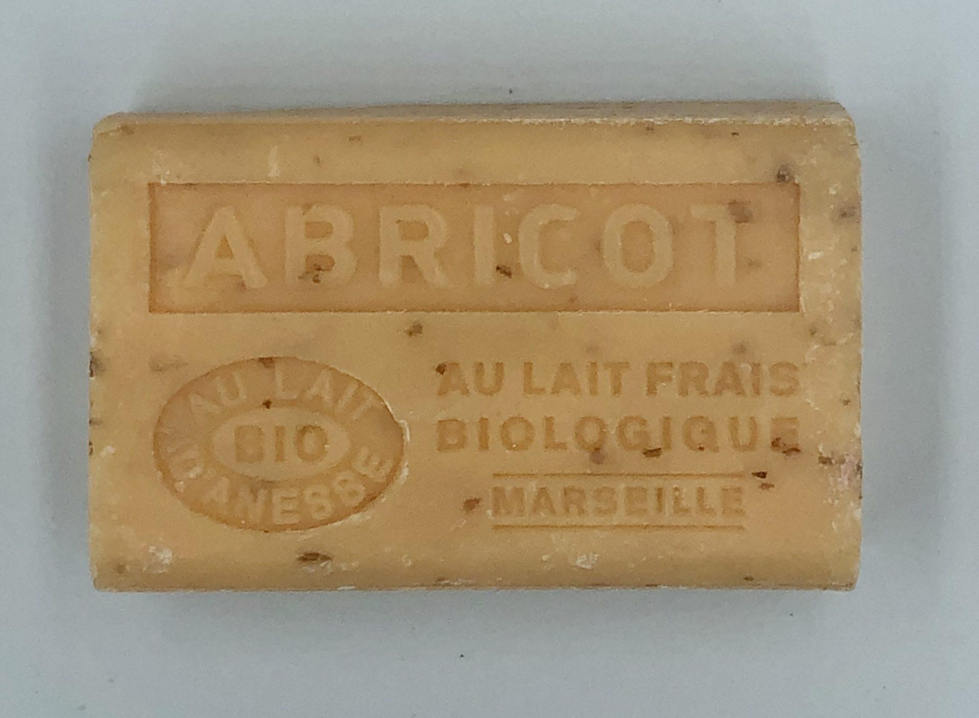 Savon de Marseille au lait d'ânesse BIO Abricot