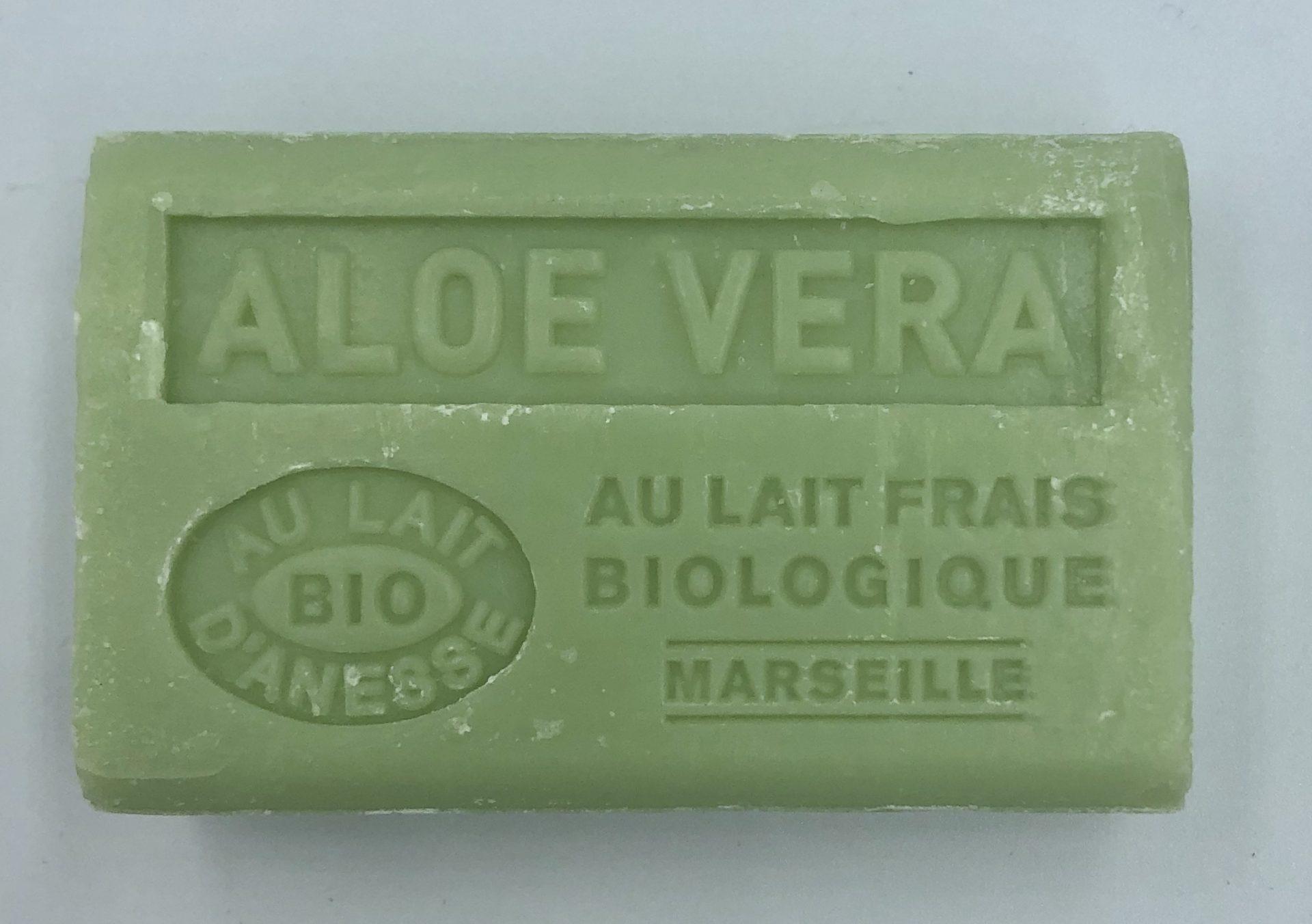 Savon de Marseille au lait d'ânesse BIO Aloé Véra