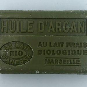 Savon de Marseille au lait d'ânesse BIO huile d'Argan
