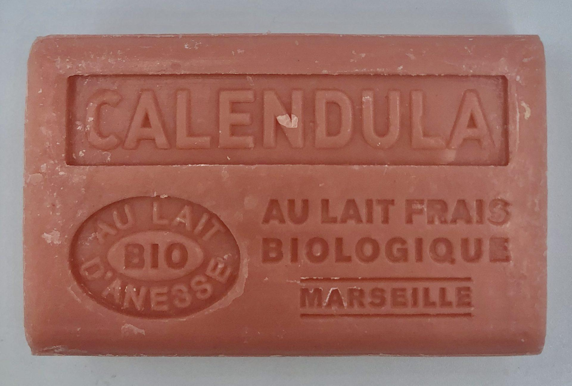Savon de Marseille au lait d'ânesse BIO Calendula
