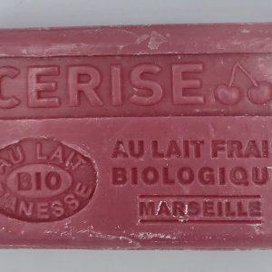 Savon de Marseille au lait d'ânesse BIO Cerise