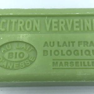Savon de Marseille au lait d'ânesse BIO Citron Verveine