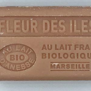 Savon de Marseille au lait d'ânesse BIO Fleur des iles