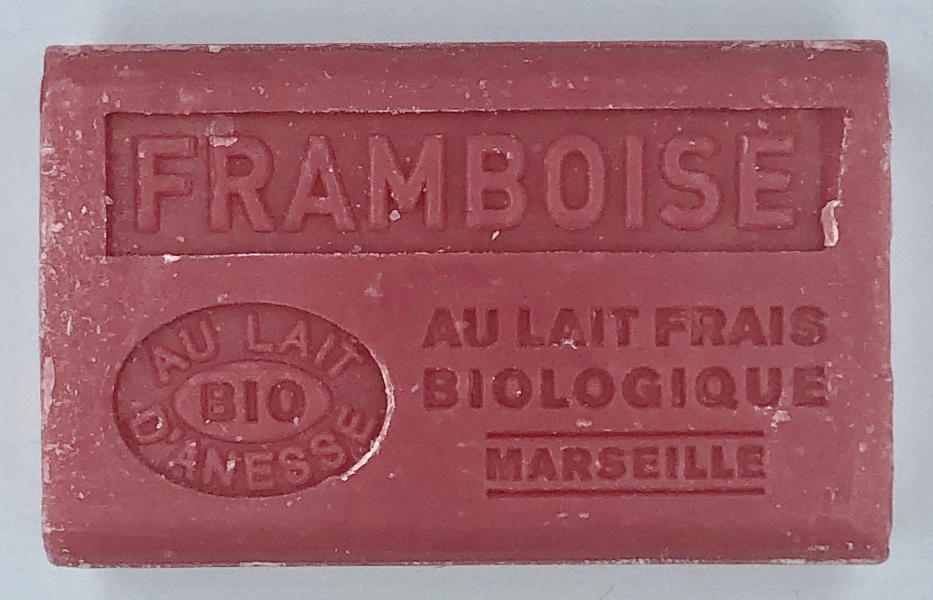 Savon de Marseille au lait d'ânesse BIO Framboise