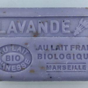 Savon de Marseille au lait d'ânesse BIO Lavande fleurs