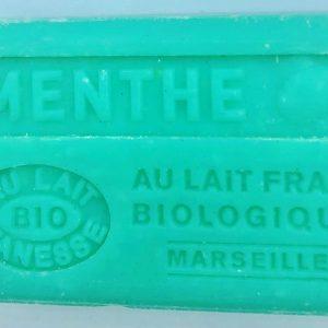 Savon de Marseille au lait d'ânesse BIO Menthe