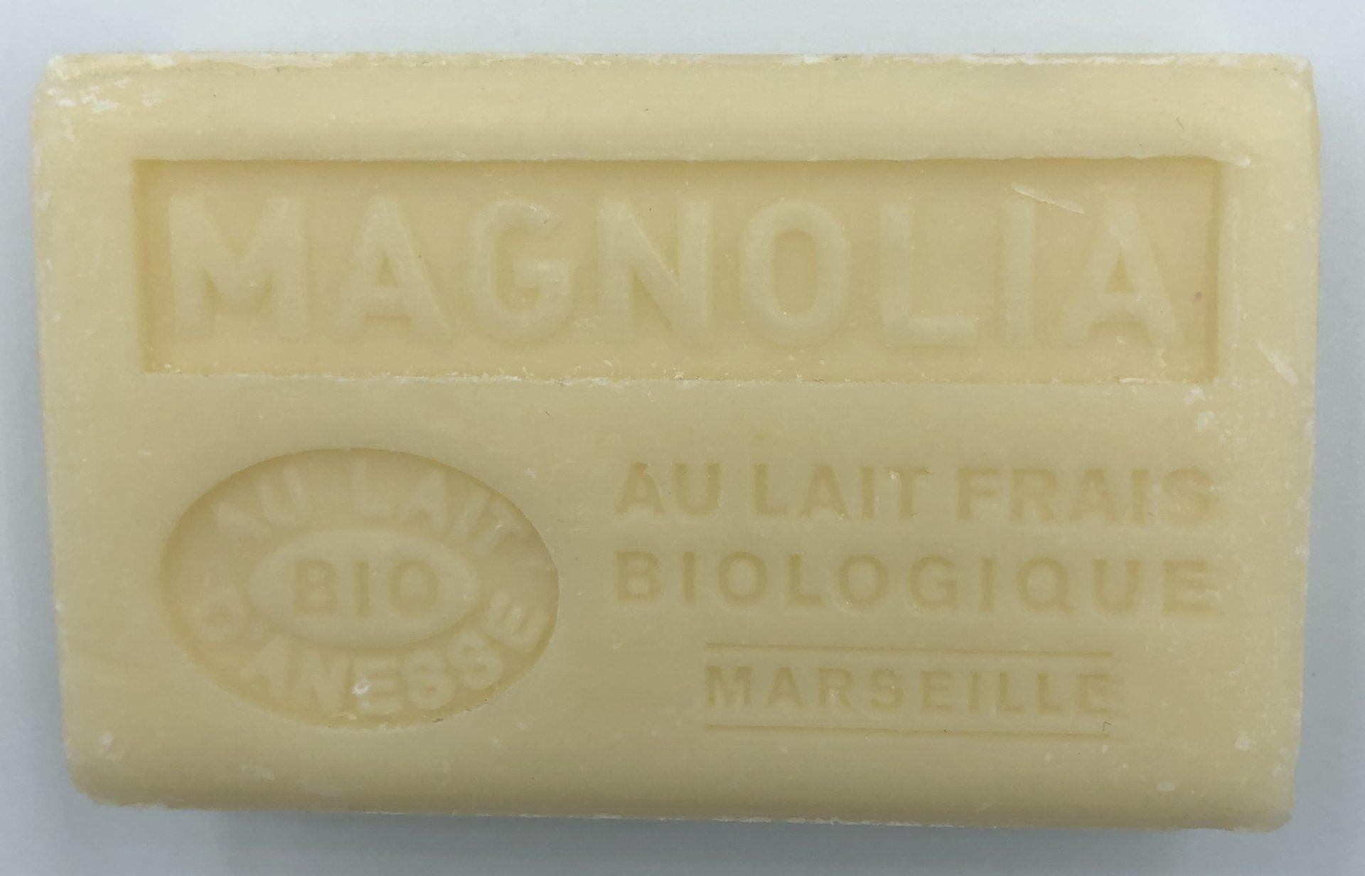Savon de Marseille au lait d'ânesse BIO Magnolia