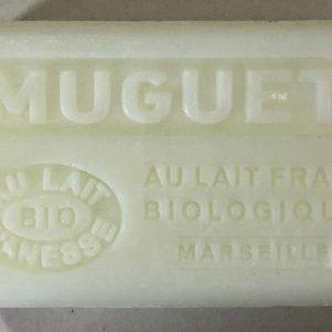 Savon de Marseille au lait d'ânesse BIO Muguet