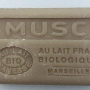 Savon de Marseille au lait d'ânesse BIO Musc