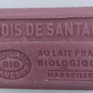 Savon de Marseille au lait d'ânesse BIO Bois de Santal