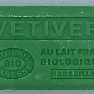 Savon de Marseille au lait d'ânesse BIO Vétiver