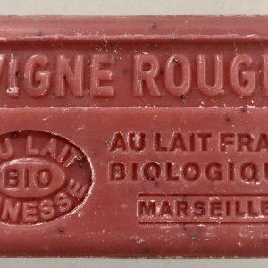 Savon de Marseille au lait d'ânesse BIO Vigne rouge