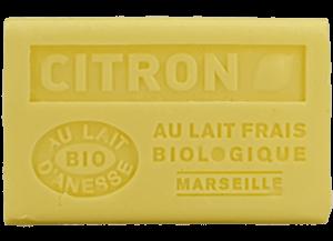 Savon de Marseille au lait d'ânesse BIO Citron